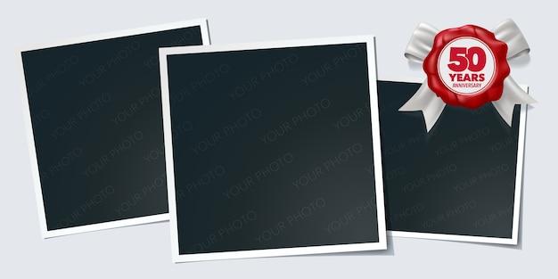 Рамки для фотографий к пятидесятилетию и сургучная печать