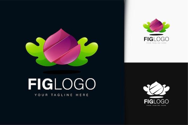 グラデーションのイチジクのロゴデザイン