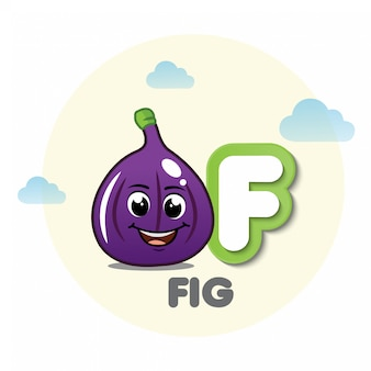 Fig mascot with letter f