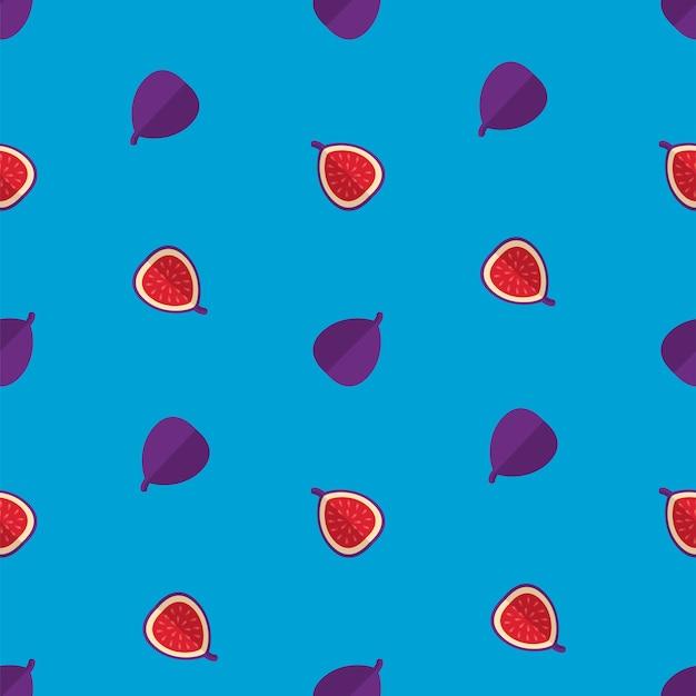 Fig pattern on blue