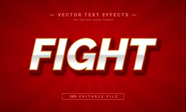 Fight 3d  editable text effect template