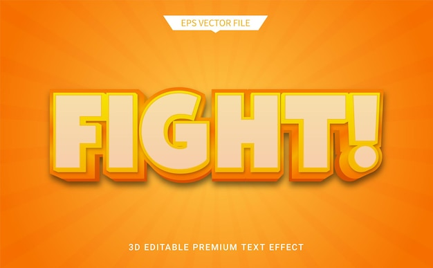 3d編集可能なテキストスタイル効果プレミアムベクトルと戦う