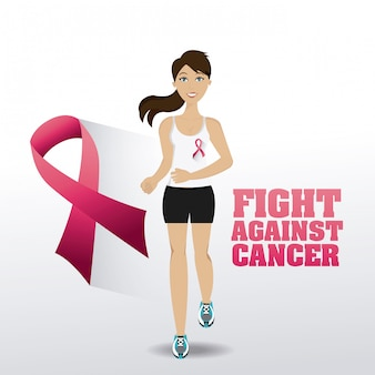 Fight against breast cancer campaign
