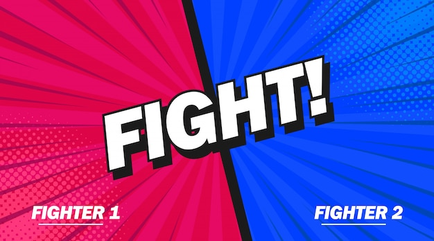 Fight background poster comic speech bubble.