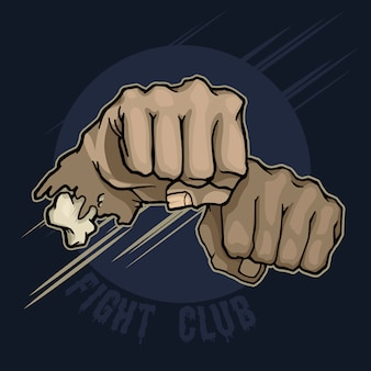 Fight club. hand punch