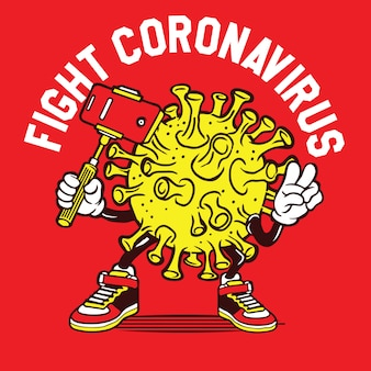 コロナウイルスの自撮りポーズと戦う
