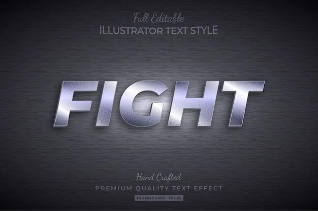 Fight editable 3d text style effect premium