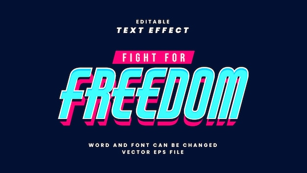 Fight for freedom text effect