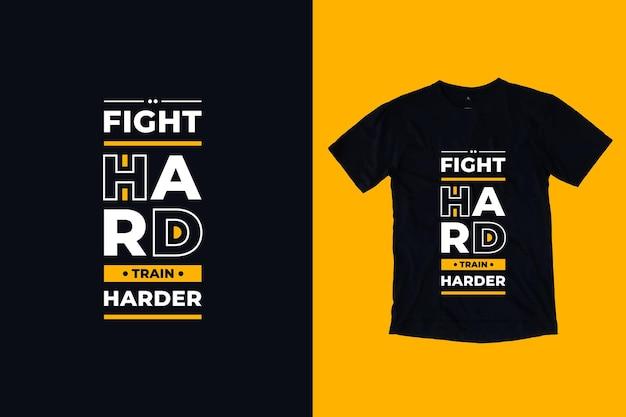 ハードトレインとの戦いよりハードモダンなtpographyはtシャツのデザインを引用