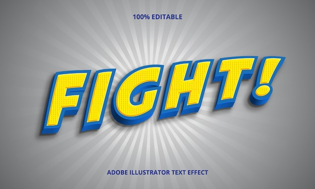 Fight text, editable font effect