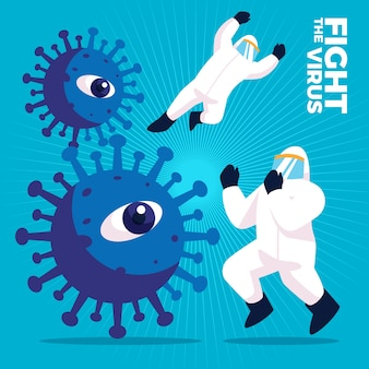 Fight the virus concept
