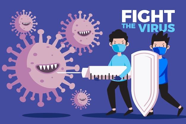 Fight the virus illustration concept