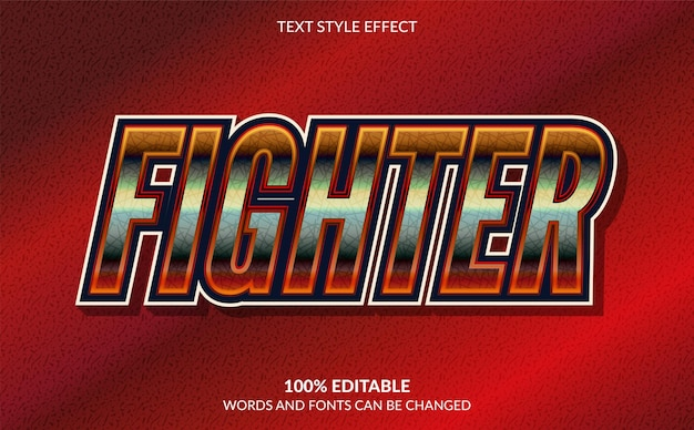 Fighter editable text effect esport text style
