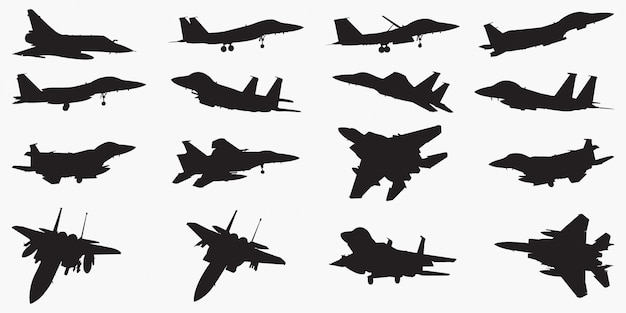 Fighter jets silhouettes