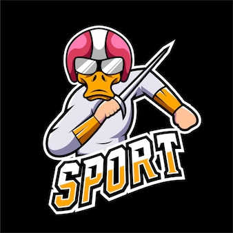Fighter sport and esport gaming mascot logo