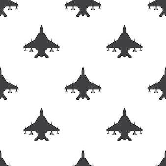 Fighter, vector seamless pattern, editable can be used for web page backgrounds, pattern fills