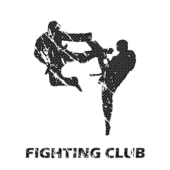 Fighting club illustration. creative and sport style image