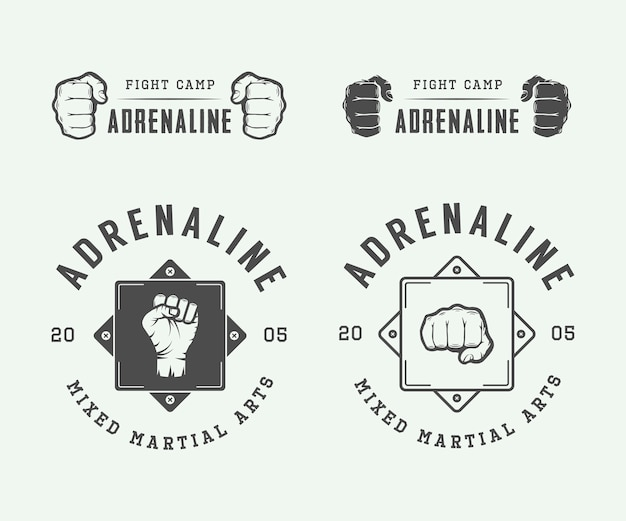 Fighting club logos, emblems