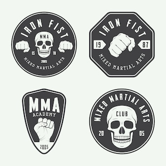 Fighting club logos, emblems