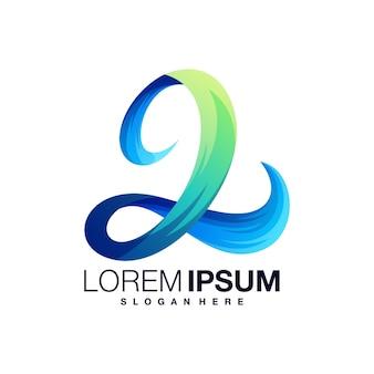 Figure 2 colorful logo design template