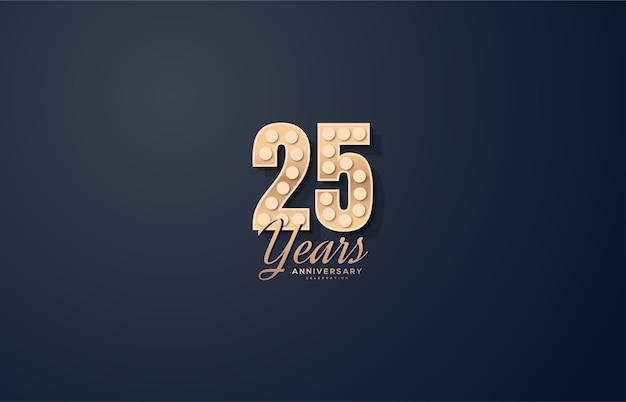 Цифра 25 для торжества. с числами и 3d огнями.