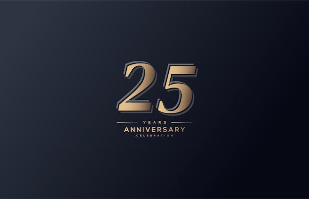 お祝いの図25。ソフトゴールドの数字で。