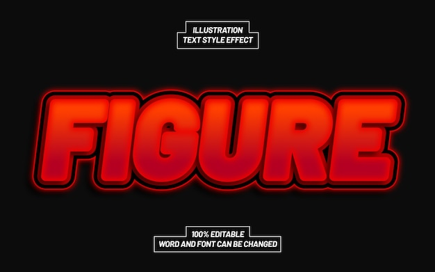 Figure 3d bold text style effect