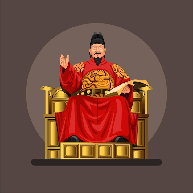 세종대왕의 모습, 그는 조선 왕조의 네 번째 왕이었습니다.