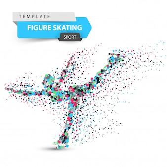 Figure skating - dot illustration
