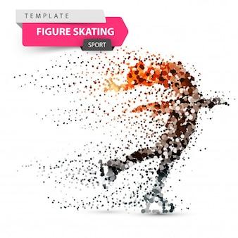 Figure skating dot illustration