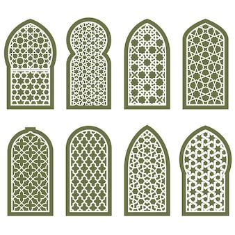 Фигурный арабский орнамент для окон - решетчатый узор арабески
