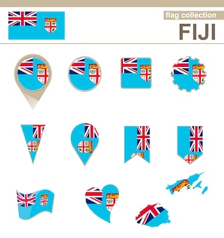 Fiji flag collection, 12 versions