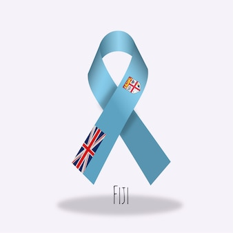 Fiji flag ribbon design