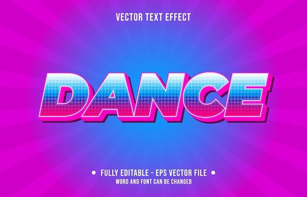 파일 1다이아몬드 패턴으로 편집 가능한 텍스트 효과 그라데이션 스타일 댄스