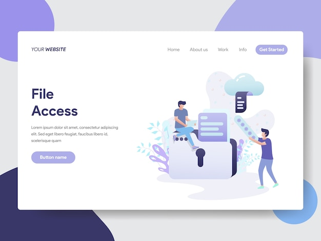 File access illustration for web pages
