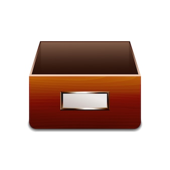 File cabinet for documents.