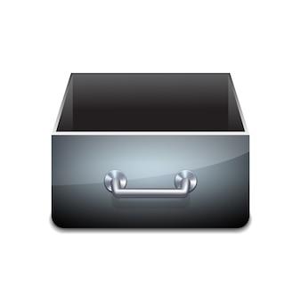 ドキュメントのファイルキャビネット。ベクトルイラスト