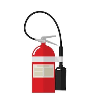 Значок файла огнетушитель изолированный клипарт в плоском мультяшном дизайне для изображения этикетки безопасности