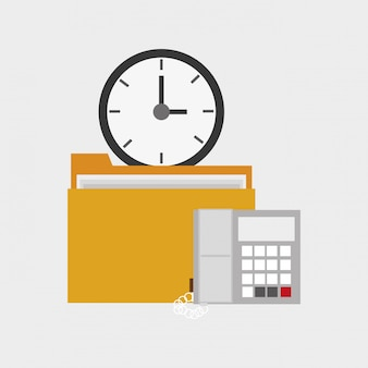 File folder office related items icon