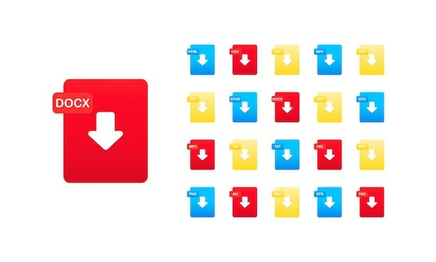 File format icon set