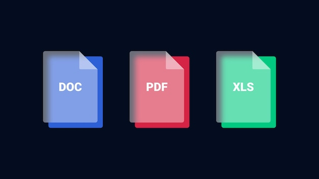 File format icons