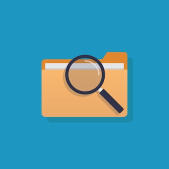 File icon, flat design vector illustration