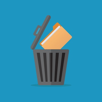 File icon, flat design vector illustration
