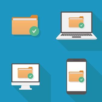 File icon flat design