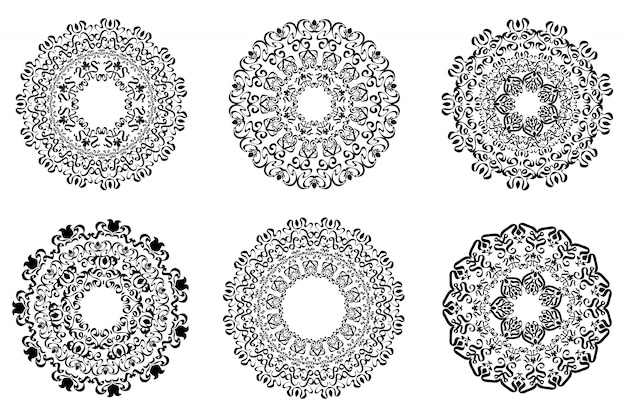 Файл классического орнамента рамы, старинные границы набора.