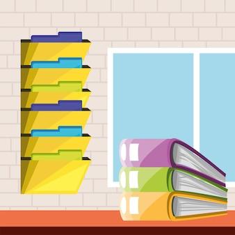File paperwork and folders
