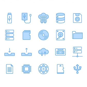 File storage icon set