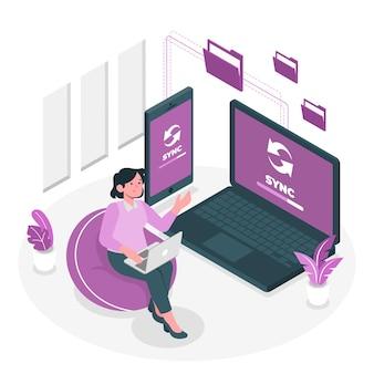 File synchronizationconcept illustration
