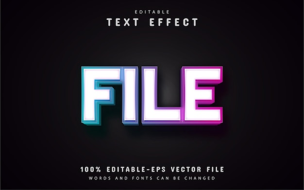 File text effect