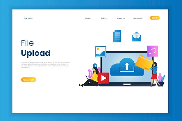 File upload illustration web page
